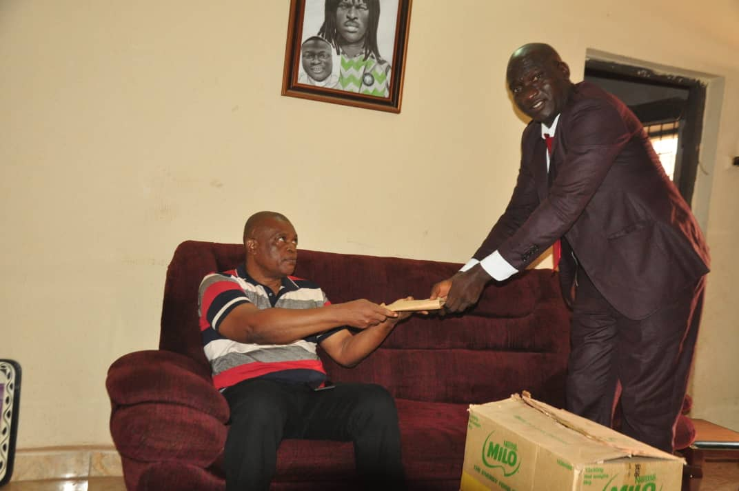 Sports Minister Doles Out Gifts, Cash To Okwaraji's Mother
