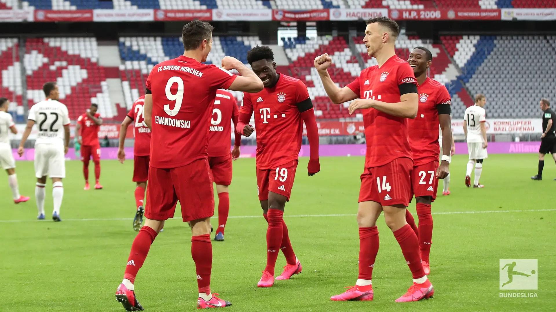 Bundesliga: Bayern Outclass Frankfurt 5-2 At Allianz Arena