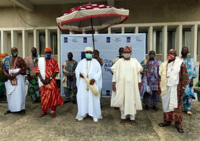 Covid19-CACOVID-Furthers-Its-Sensitization-Bags-Support-Of-Alake