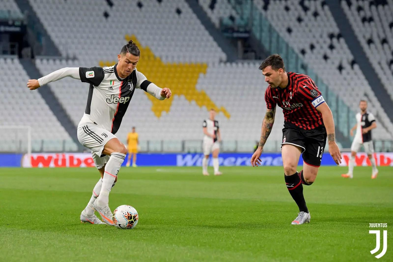 Ronaldo Misses Penalty As Juventus Hold 10-Man AC Milan; Advance To Coppa Italia Final