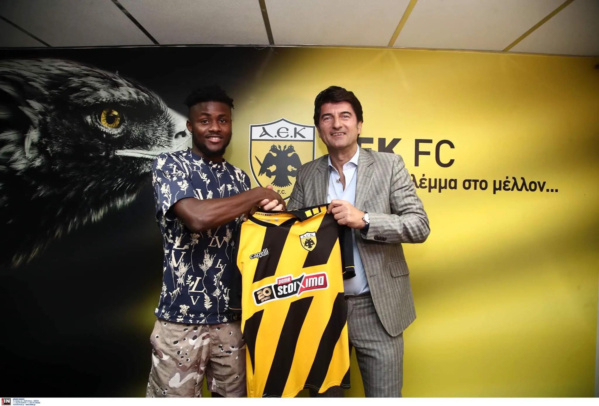 Ex-U23 Eagles Striker  Enobakhare Joins Greek Club AEK Athens On Three-Year Contract