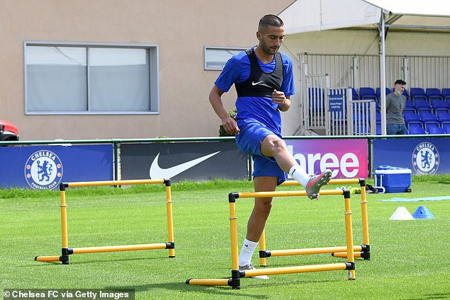 New Signing Ziyech Undergoes First Training Session At Chelsea