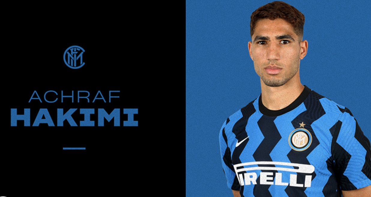 Hakimi Joins Inter Milan From Real Madrid