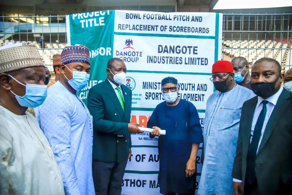Dangote Group Begins $1m-Worth Renovation Of  Moshood Abiola National Stadium