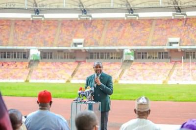 aliko-dangote-group-moshood-abiola-national-stadium-abuja-minister-of-youth-and-sports-development-sunday-dare