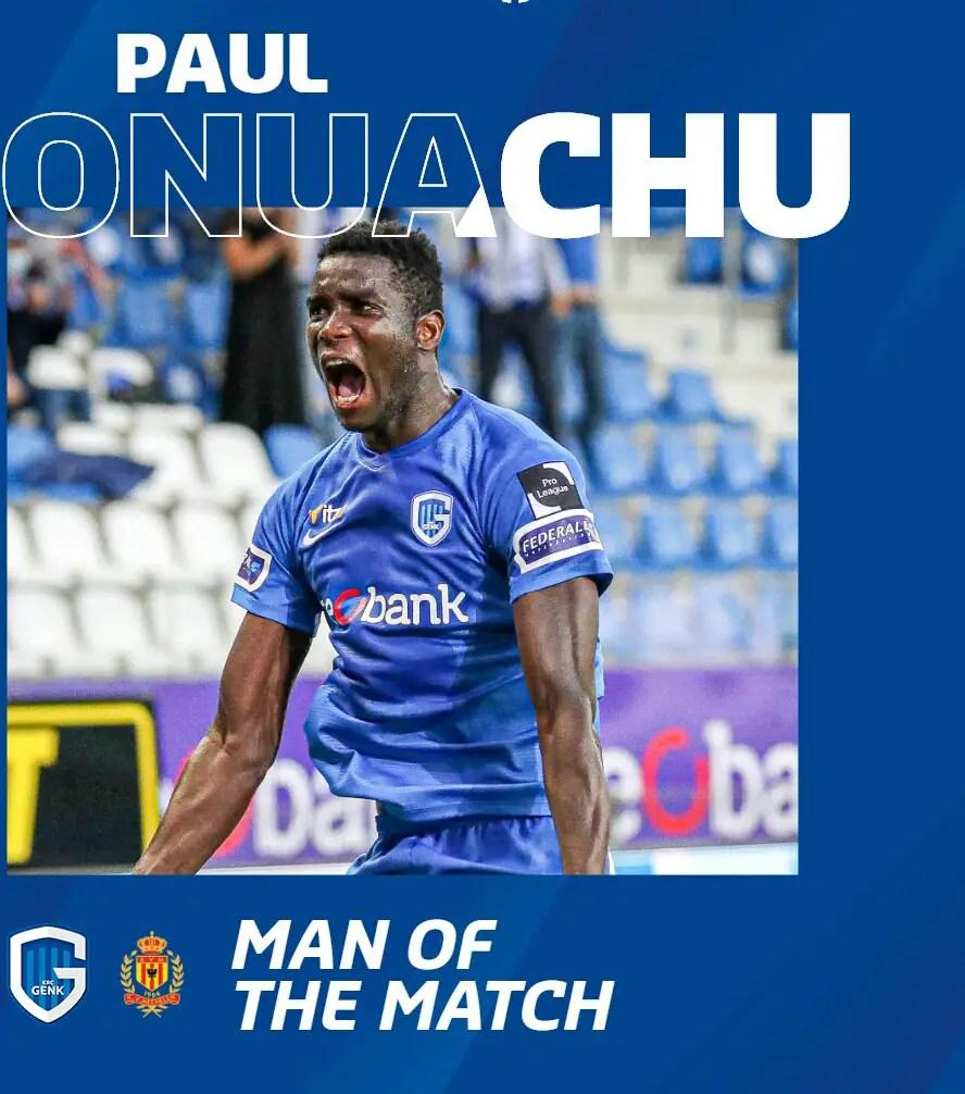Onuachu Voted Man Of The Match In Genk's Win Vs Mechelen