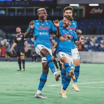 Serie A: Osimhen Celebrates  Napoli's Win Over Genoa