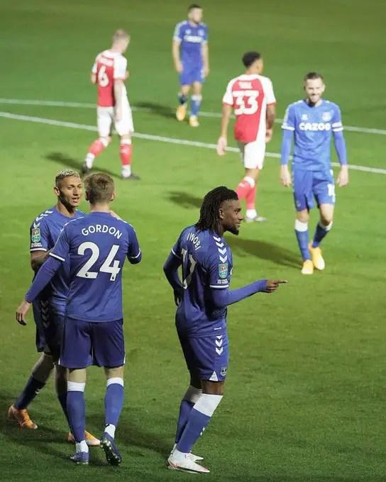 Everton Hail Iwobi's Impact In Carabao Cup Win Over Fleetwood Town