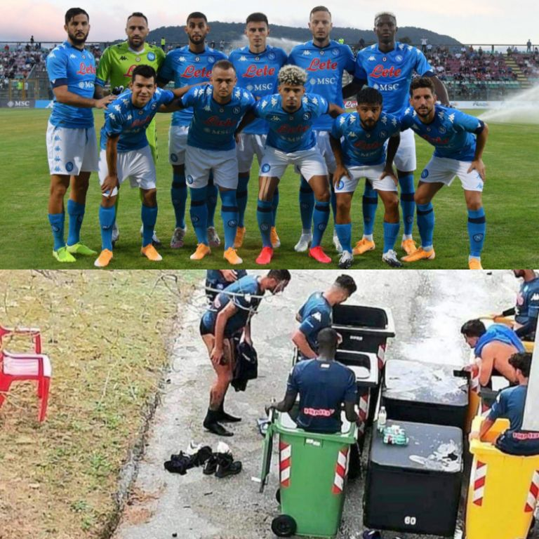 Napoli Defend Players' Use Of Bins For Pain Relieve Therapy