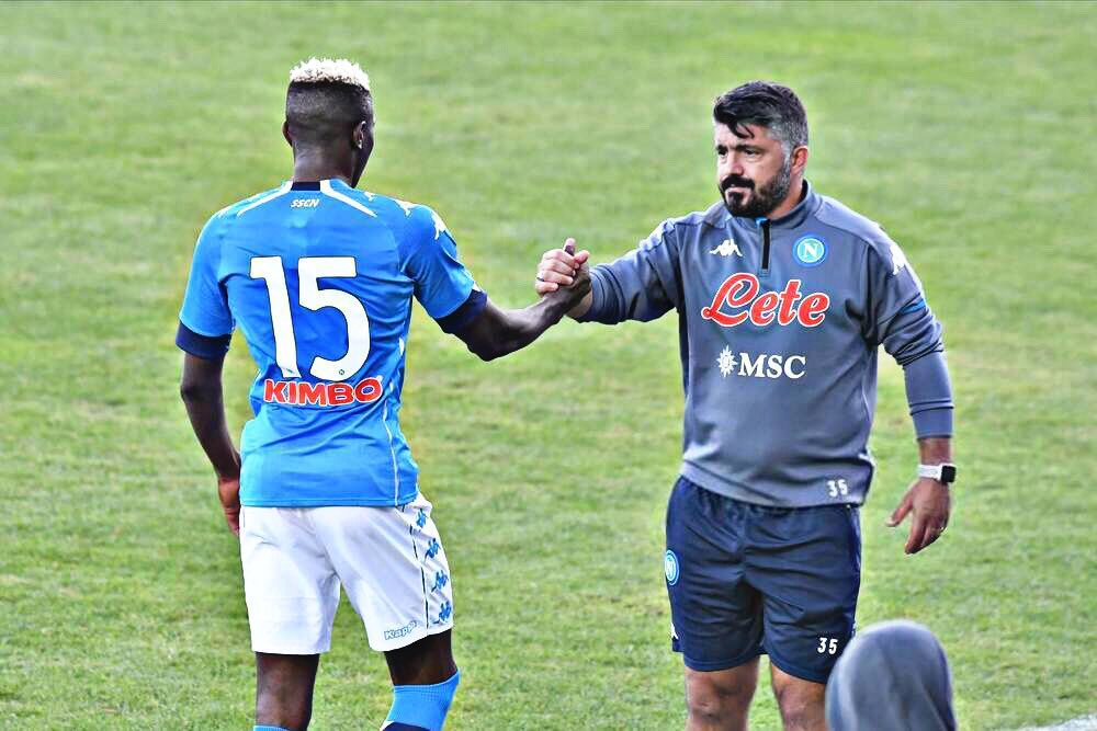 'Victor Is Doing Everything To Recover'- Gattuso Backs Osimhen To Hit Top Form For Napoli