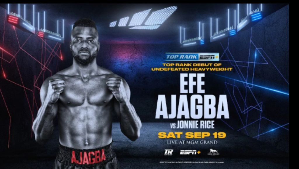Ajagba Eager To Impress, Defeat Rice In Top Rank Debut