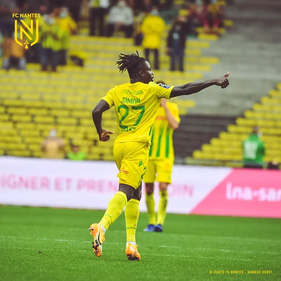 Ligue 1: Simon On Target In Nantes' Home Draw Vs Saint-Etienne