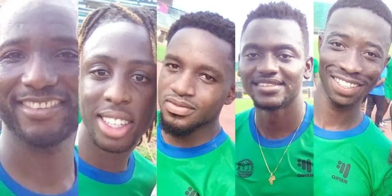 Anderlecht Star Bundu, Six Others Arrive Leone Stars Camp