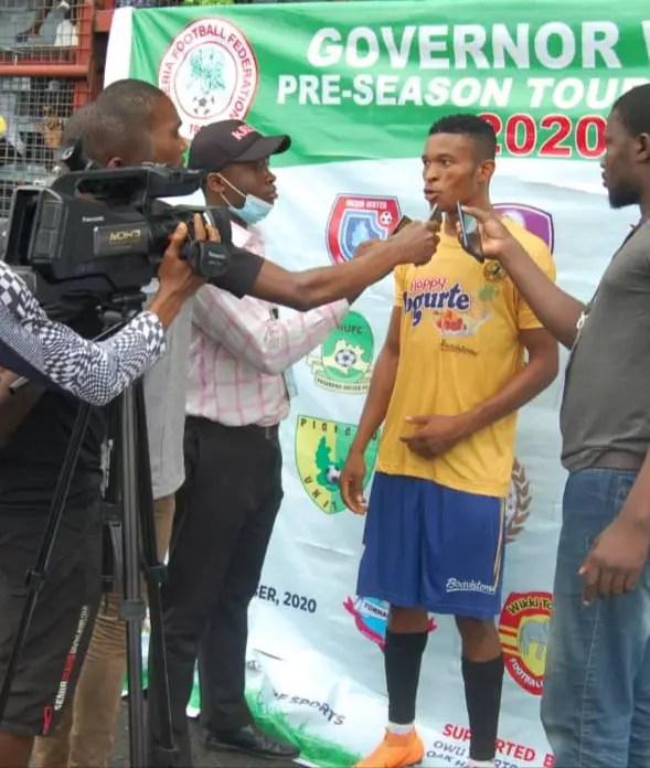 Governor Wike Pre-Season Tourney: Nnaji Is MOTM As 10-Man Udala FC Pip Goddosky