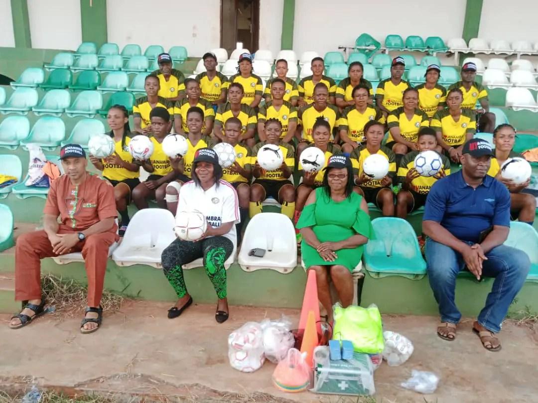 Anambra State FA Board Visits State Women's Festival Team; Donates Kits,  Materials