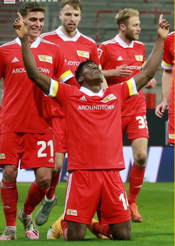 Bundesliga: Awoniyi On Target Again As Union Berlin Beat Dortmund To End Winless Run