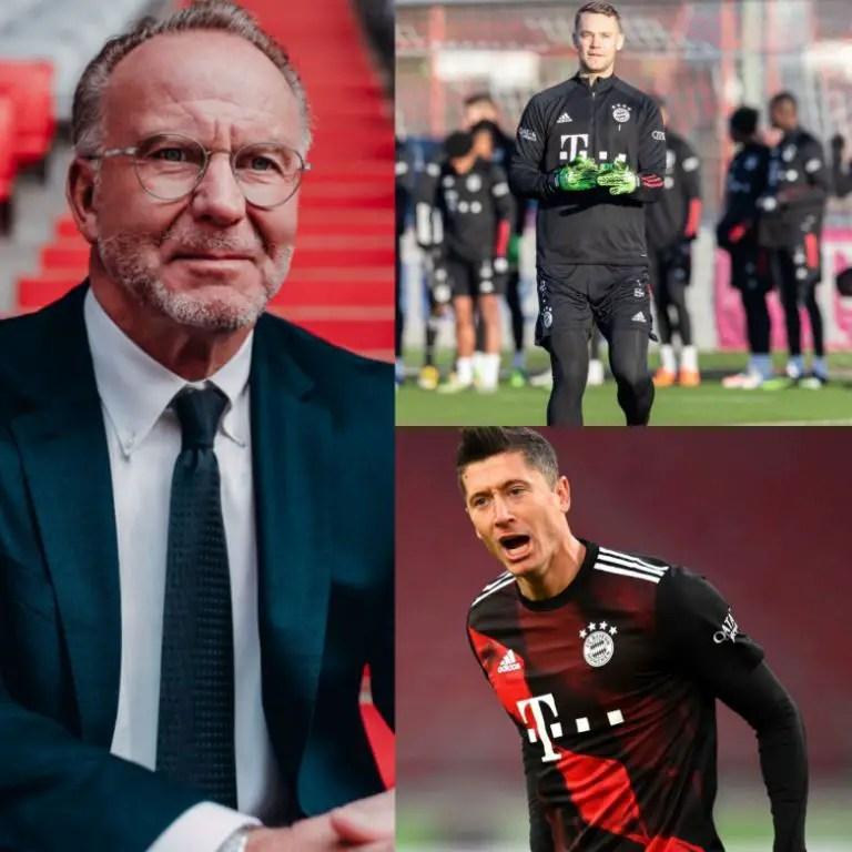 Bayern CEO, Rummenigge: 'Lewandowski, Neuer Are The Best In The World'