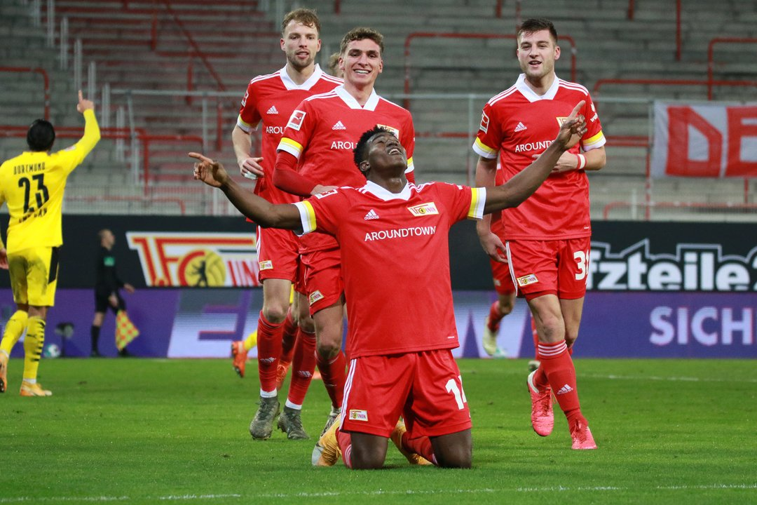 Union Berlin Celebrate 'Hero'   Awoniyi  After Stunning Win Against Dortmund
