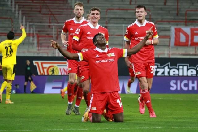 Awoniyi Reacts After Scoring In Union Berlin Draw Vs Bayer Leverkusen