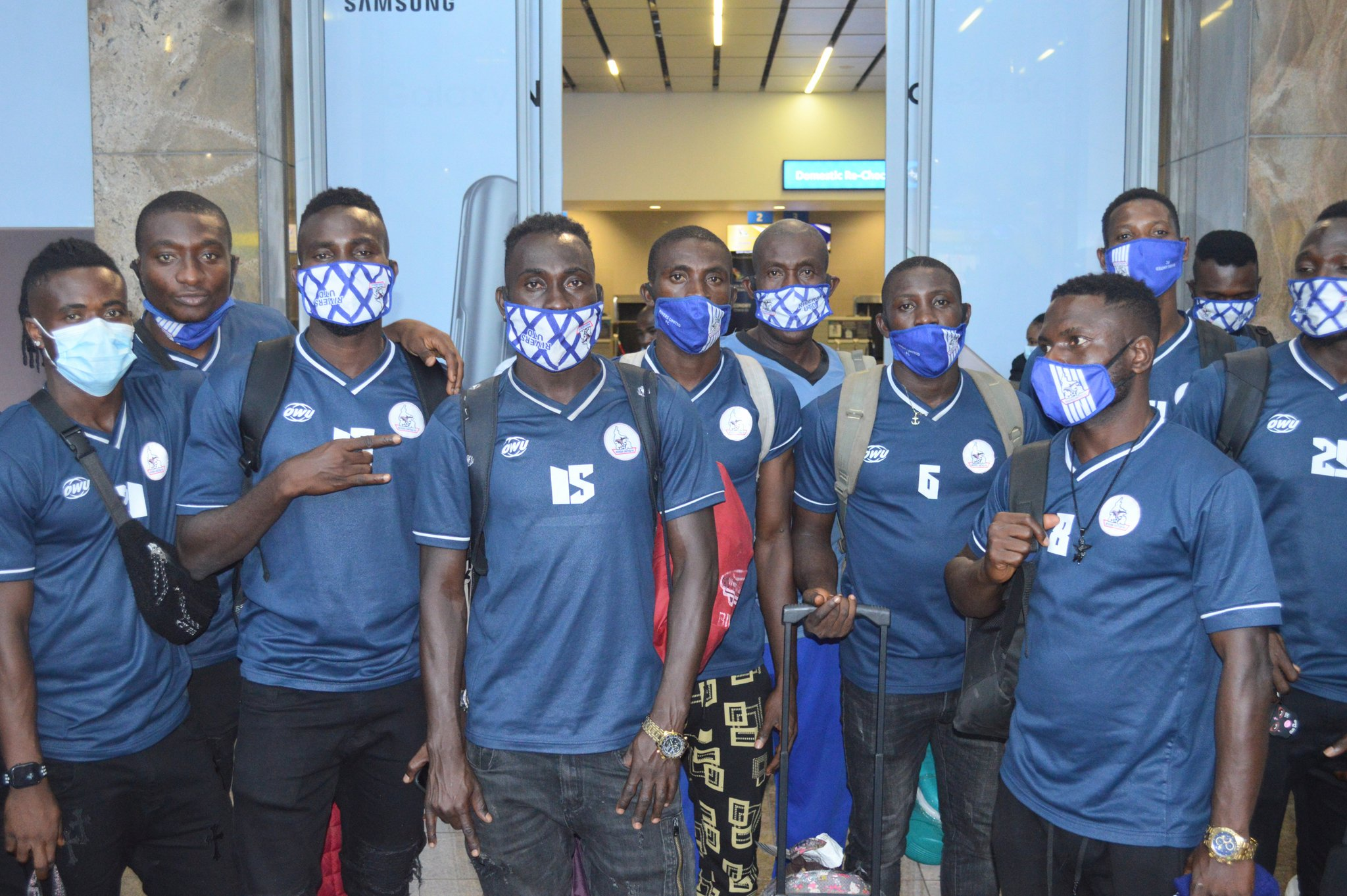 Rivers United Players, Officials Undergo Covid-19 Test  Ahead Bloemfontein Clash