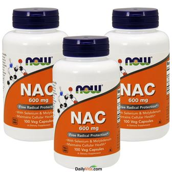NOW Foods Supplements, NAC (N-Acetyl Cysteine)600 mg with Selenium & Molybdenum