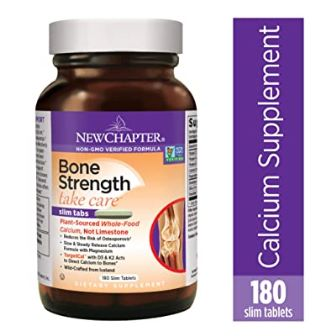 New Chapter Calcium Supplement – Bone Strength Whole Food Calcium with Vitamin K2 + D3