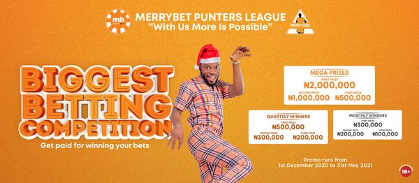 Over N5 million In Grand Prizes Up For Grabs In The New Season Of The Merrybet Punters League