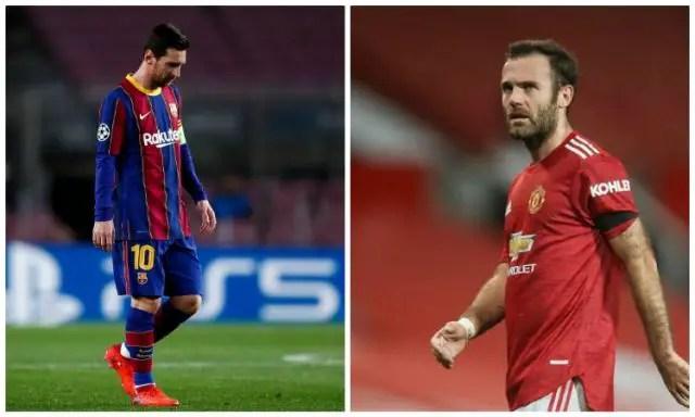 Mata: I Hope Messi Joins Man United Not Man City