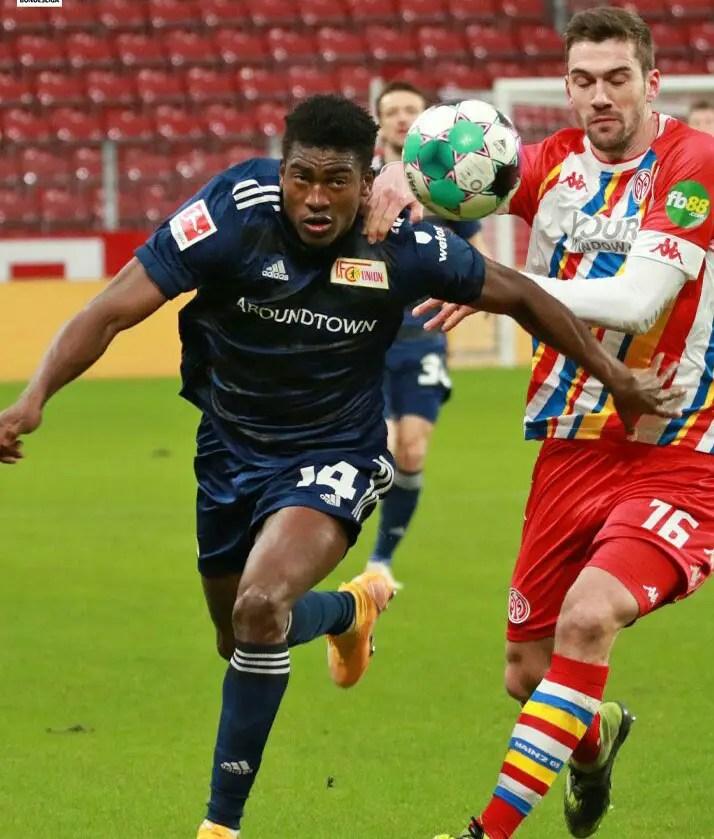 Bundesliga: Awoniyi's Goal Drought Continues As 10-Man Union Berlin Lose At Mainz