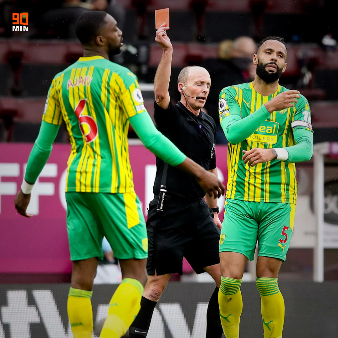 Premier League: Semi Ajayi Sent Off As West Brom Hold Burnley Away