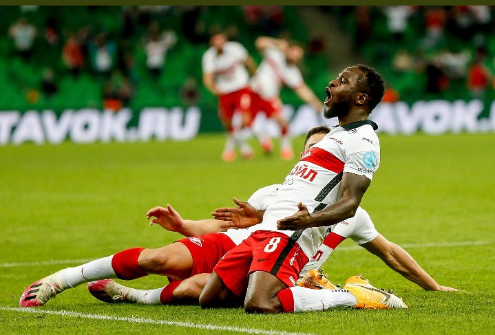Russia: Moses' Screamer Helps Spartak Moscow Secure Champions League Ticket ; Ejuke Also On Target For CSKA