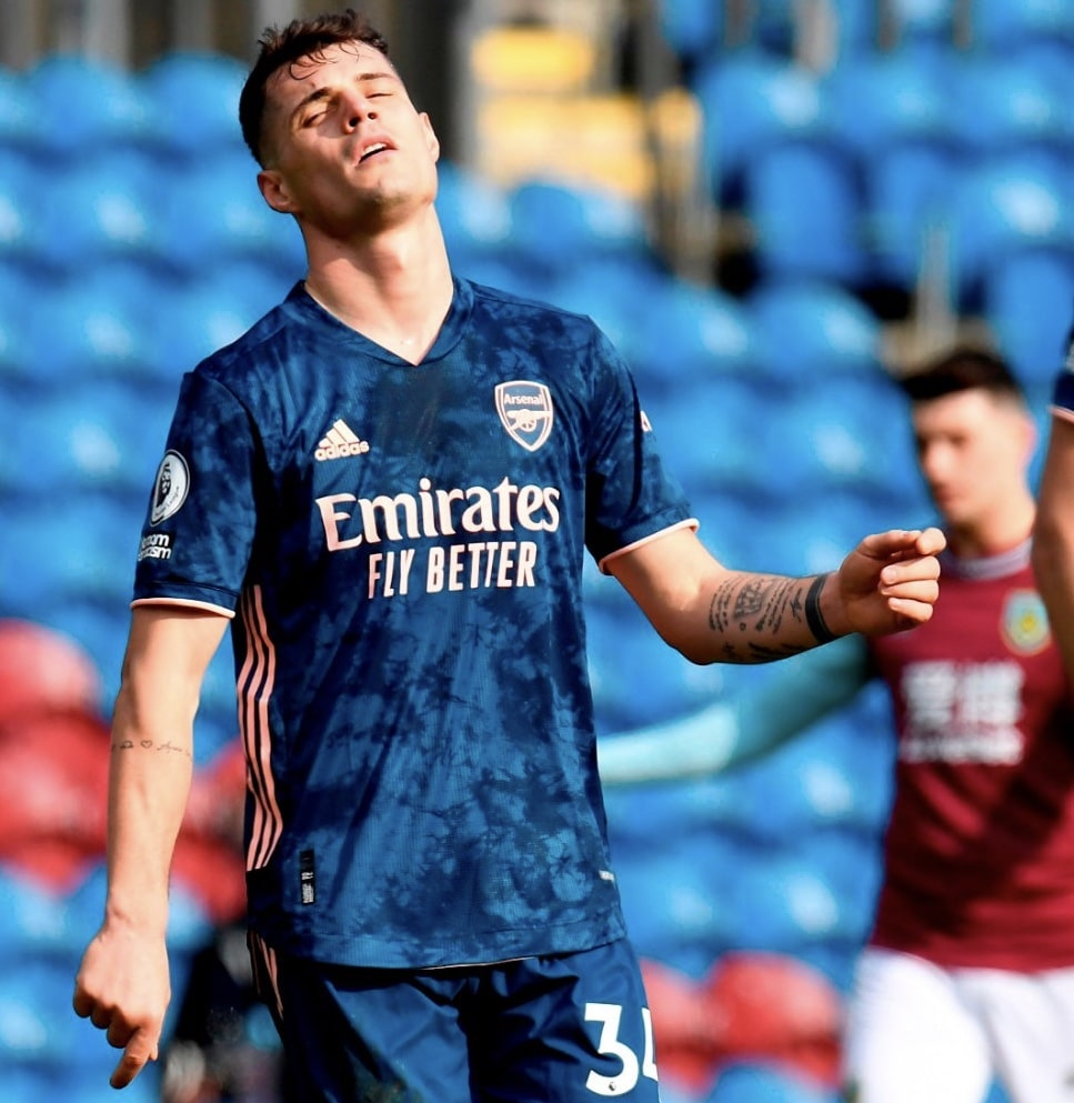 Premier League: Xhaka's Error Costs Arsenal All Three Points In Draw At Burnley