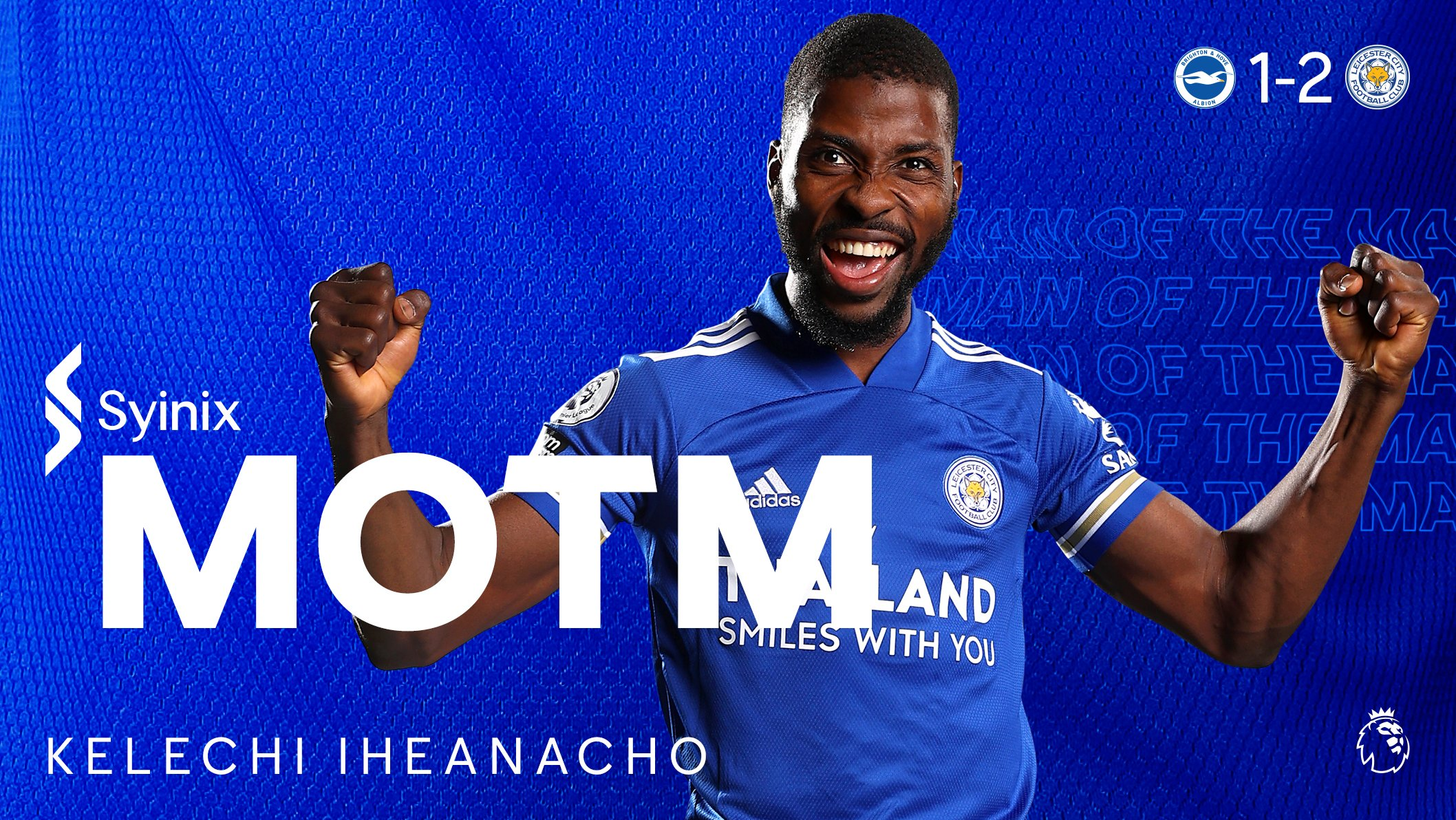 Iheanacho Voted Leicester's Man Of The Match After Win At Brighton
