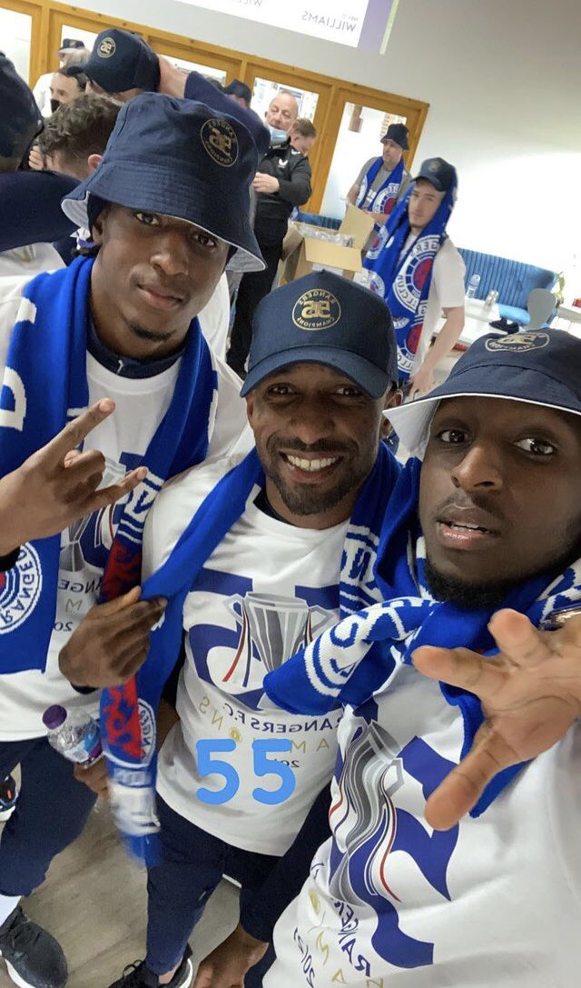 Balogun, Aribo Celebrate Rangers Title Success