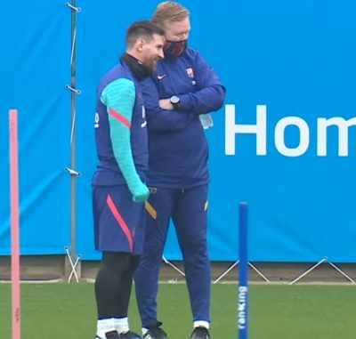 Koeman Urges Messi To Stay At Barcelona