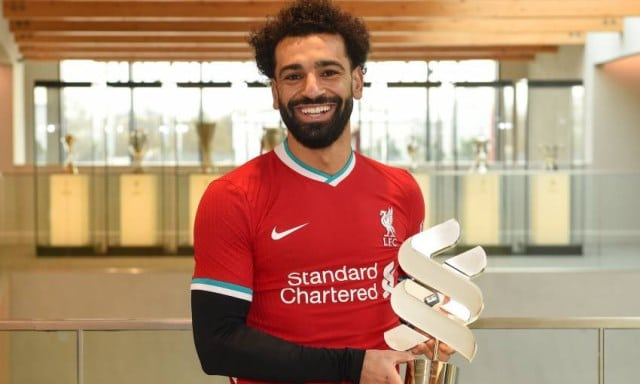Mo Sallah Claim Liverpool's Player Of The Month Award