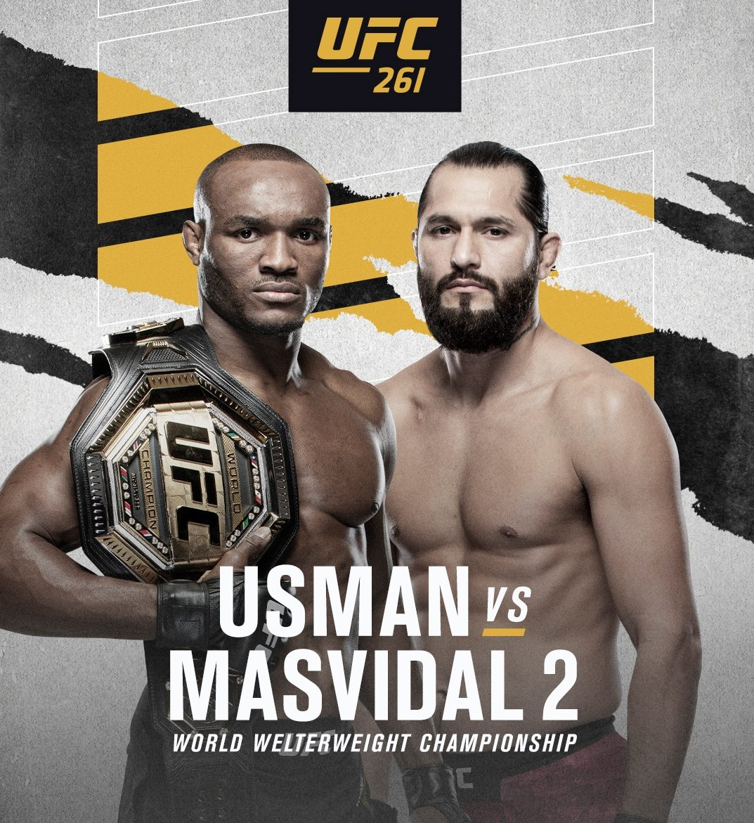 UFC Champion, Usman Gears Up For Fierce Fight Against Masvidal On Saturday