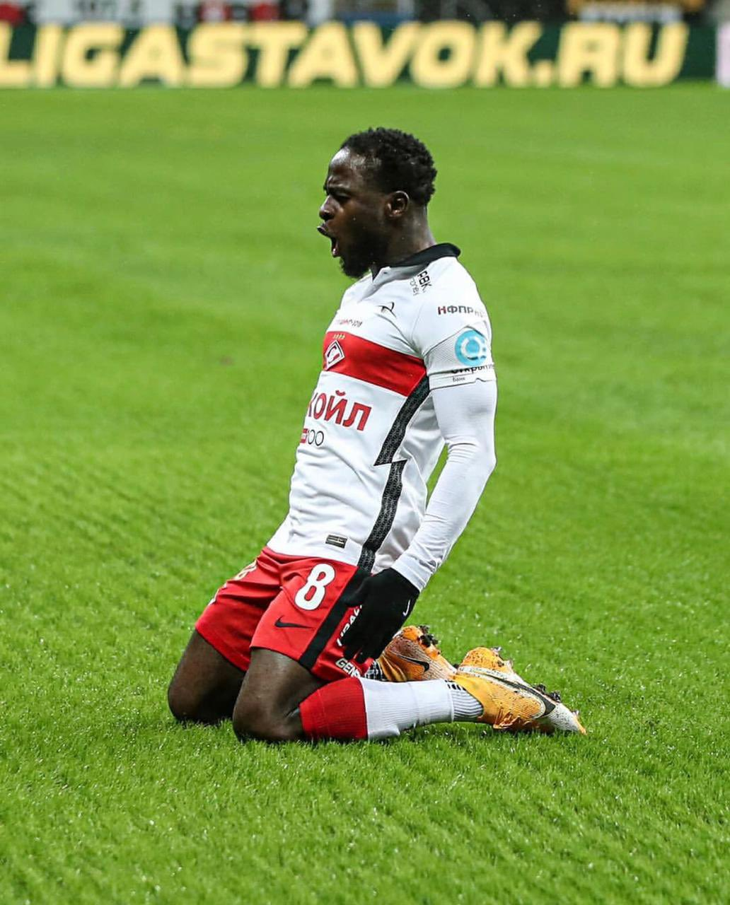 Russia: Moses On Target In Spartak Moscow's Away Win Vs Rostov