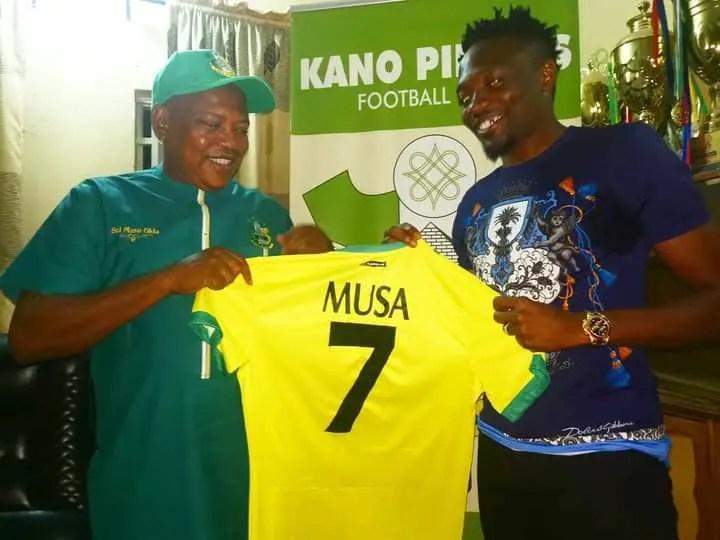 Kano Pillars Unveil Ahmed Musa