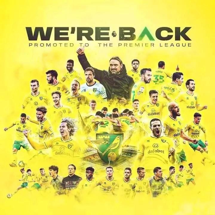 Norwich Gain Promotion Back To Premier League