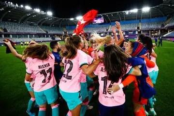 BREAKING: Oshoala Wins UEFA  Women's Champions League With Barcelona