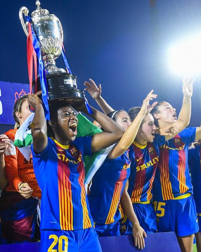 Spanish Women's Cup Final: Oshoala Benched, Ordega Subbed On As Barca Defeat Levante To Complete Historic Treble