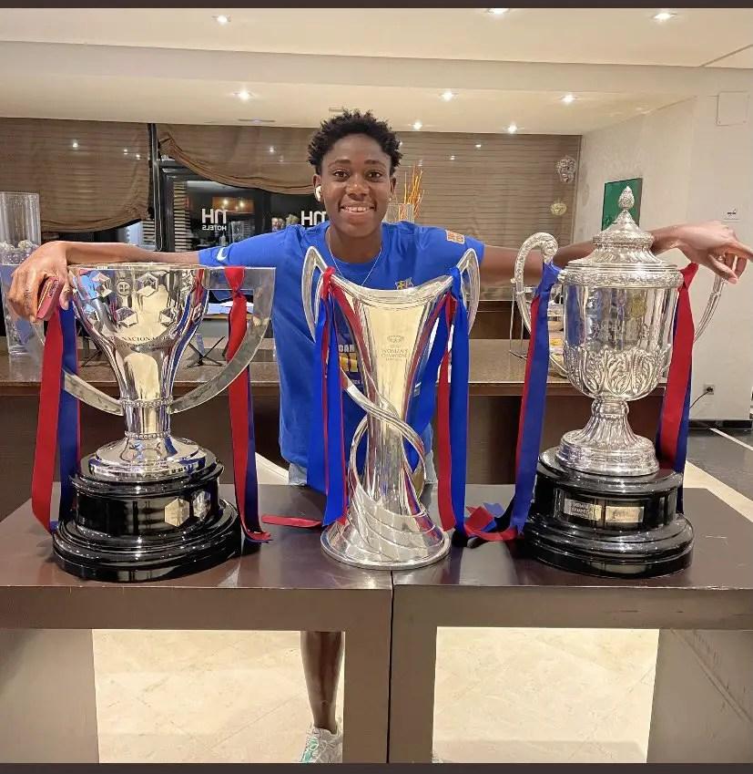 'Well Done Asisat Africa Is Proud Of You' – Ghana Legend Baffoe Salutes Oshoala On Historic Treble With Barca