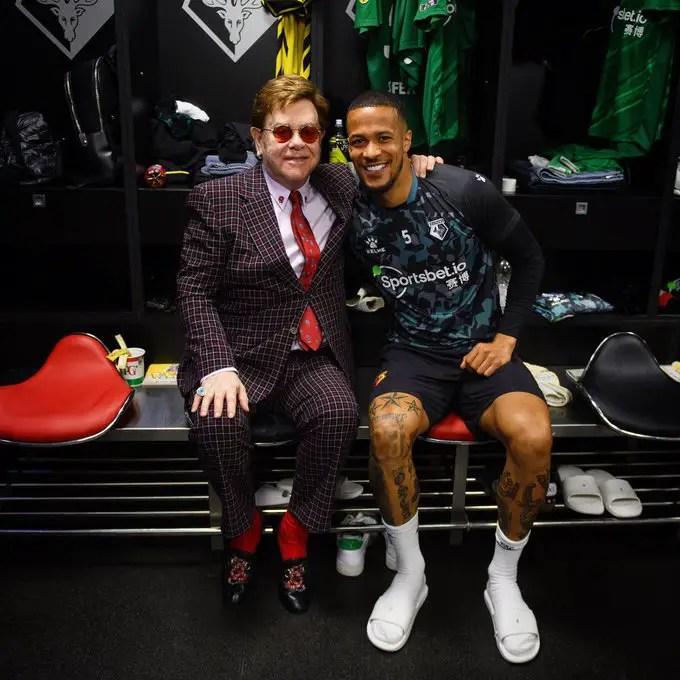 Troost-Ekong Hangs Out With Legend, Sir Elton John