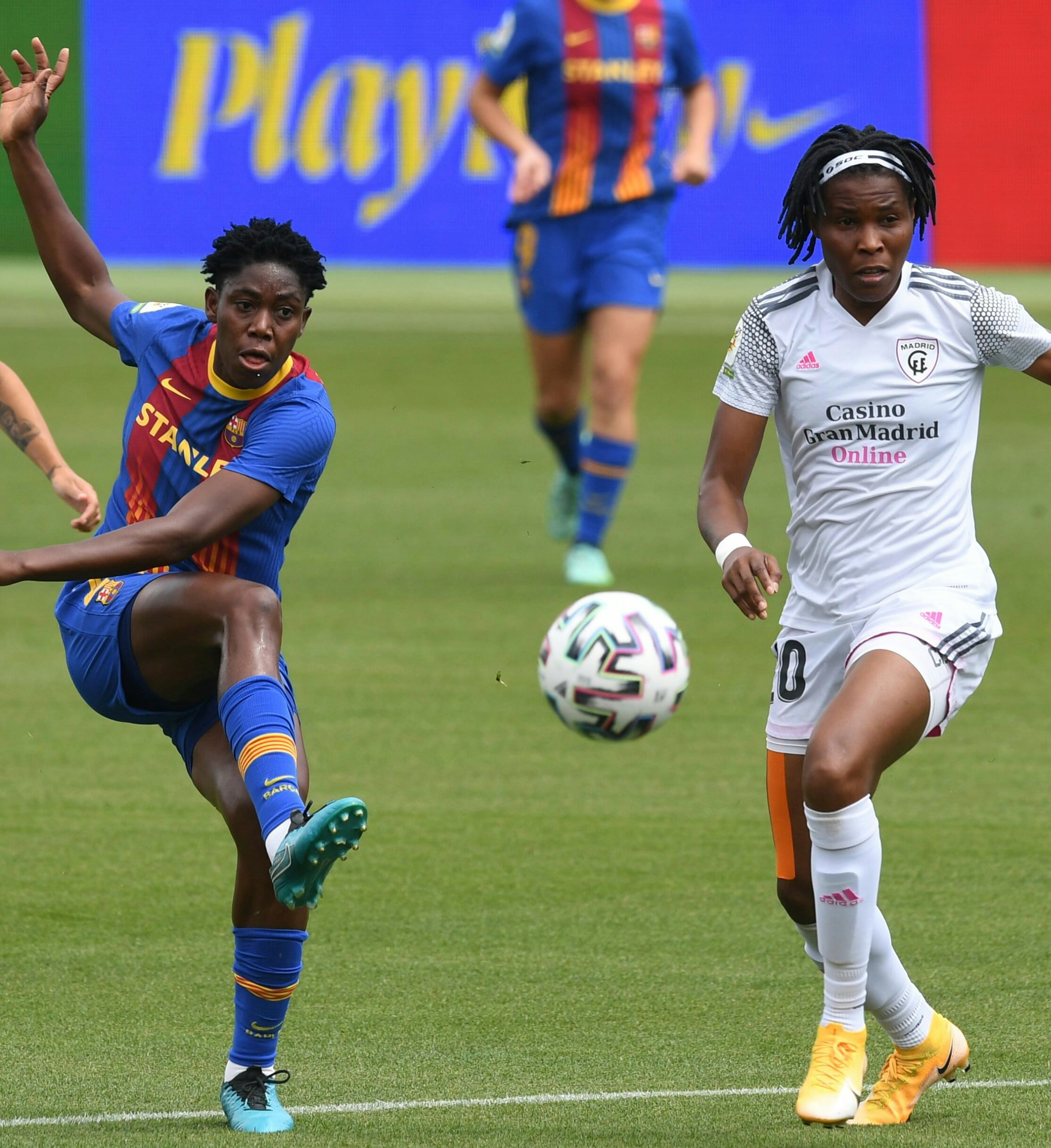 Falcons Star Ohale Scores, Oshoala, Chikwelu In Action As Barca Edge Madrid