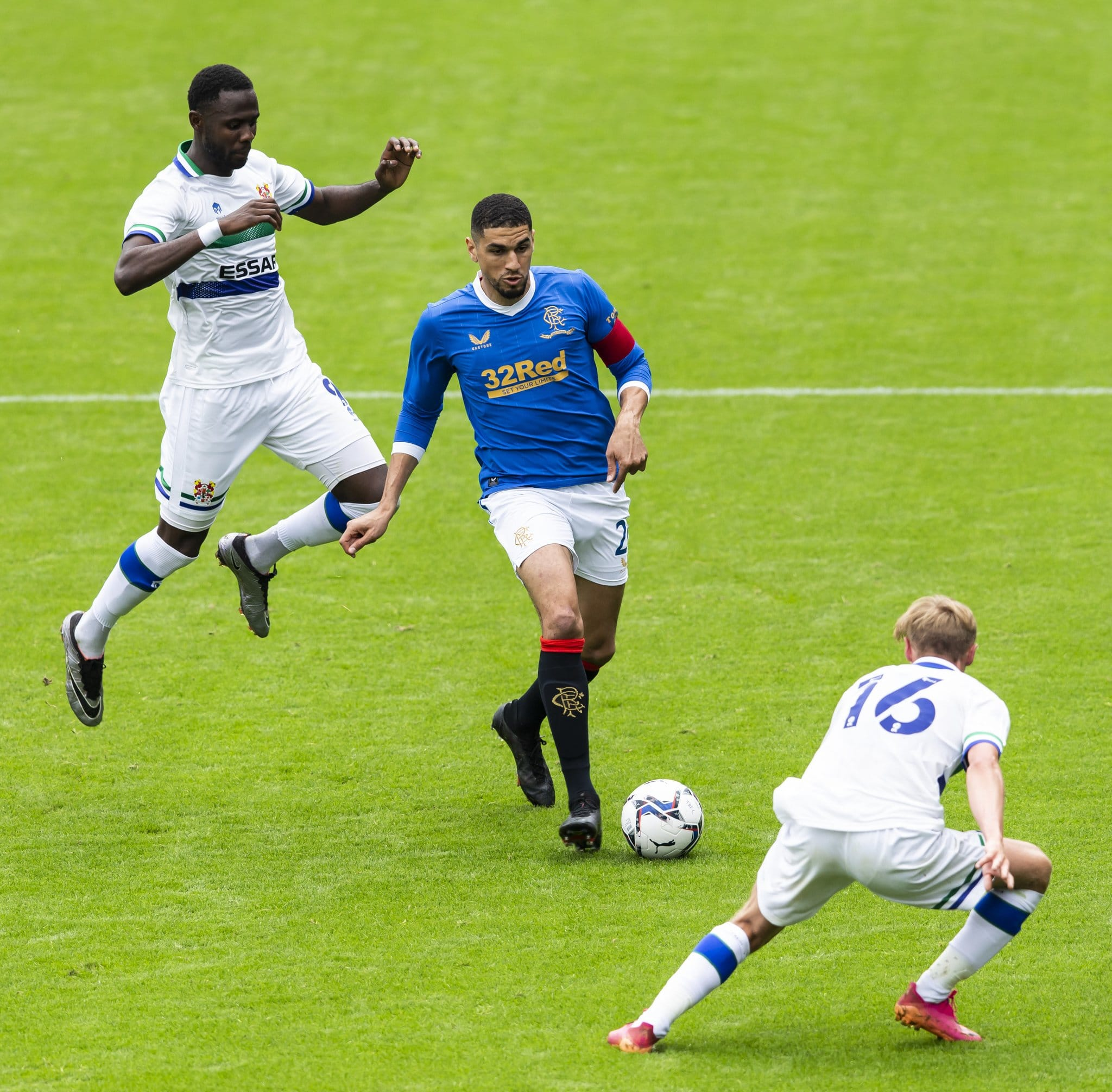 Pre-season: Balogun, Aribo In Action As Rangers Lose To 4th Division Side Tranmere Rovers