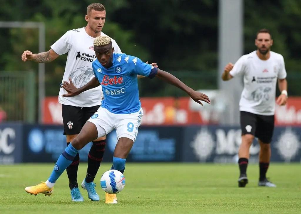 Pre-Season Friendly: Osimhen Nets Winning Goal For Napoli Vs Pro Vercelli   ⏱