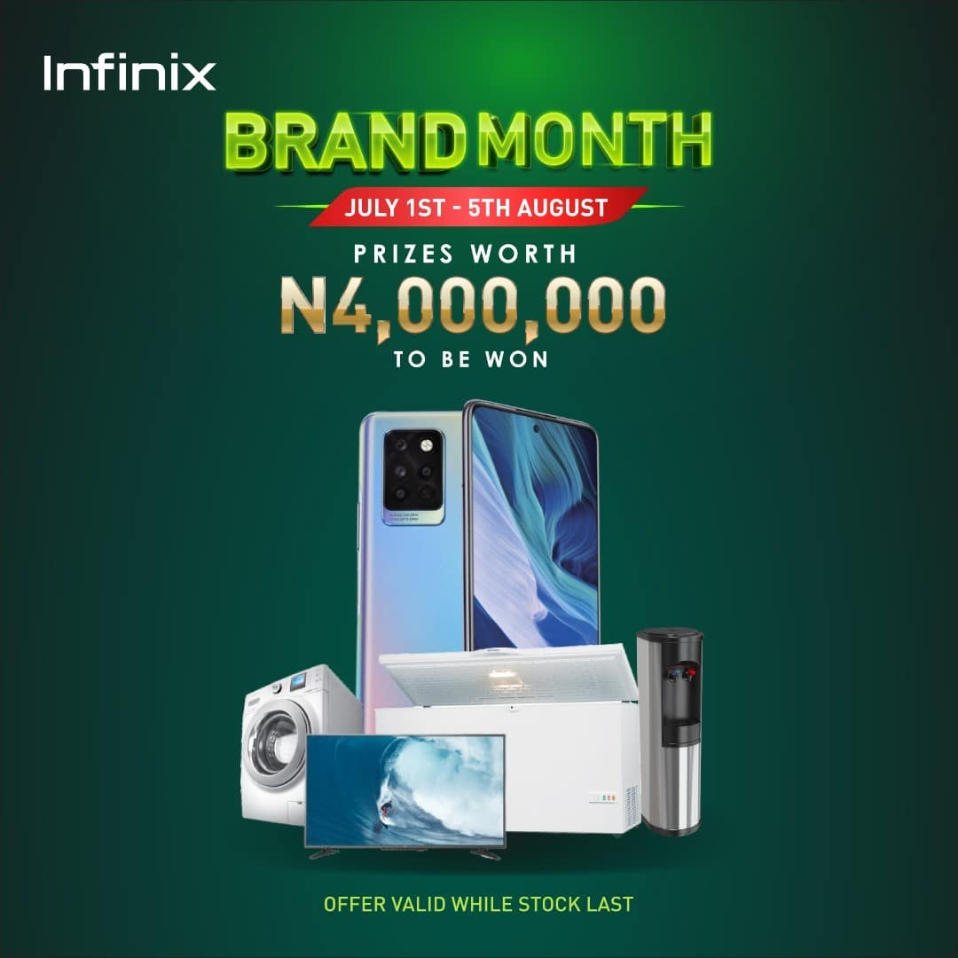 Infinix Brand Month: Exciting Gifts Worth 4,000, 000 Naira To Be Won By Customers