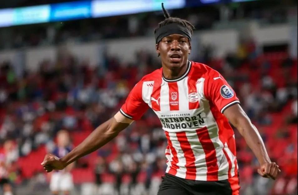 PSV Slam £20m Price Tag On Palace, Leicester Target Madueke