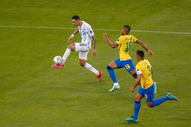 Di Maria's Goal Ends Argentina's Long Wait For Major Title, Defeat Brazil In 2021 Copa America Final